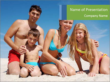 Happy family PowerPoint Template