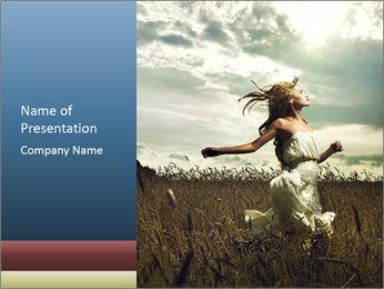Romantic woman PowerPoint Template - Slide 1