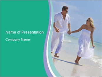 Happy couple PowerPoint Template - Slide 1