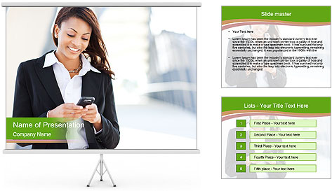 Black businesswoman PowerPoint Template
