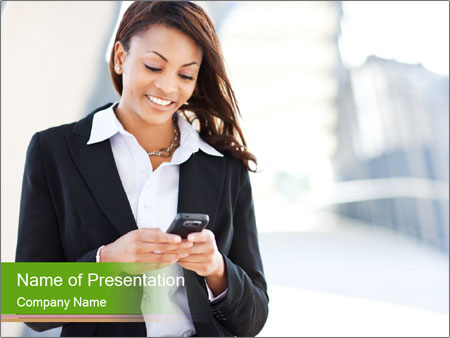 Black businesswoman PowerPoint Template