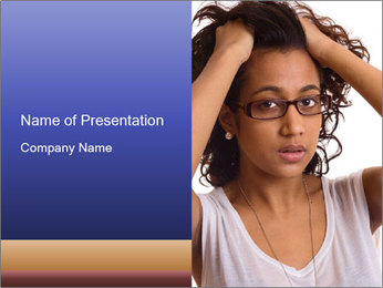 Troubled woman PowerPoint Templates - Slide 1