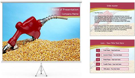 Gas pump PowerPoint Template