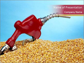 Gas pump PowerPoint Template - Slide 1