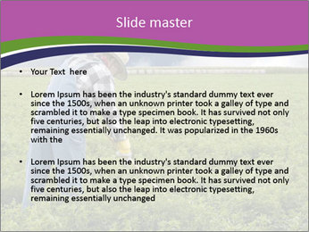 Farmer cultivating PowerPoint Template - Slide 2