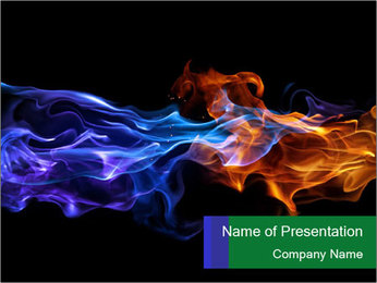 Fire PowerPoint Template - Slide 1