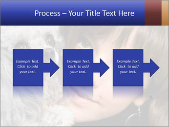 Grey poodle PowerPoint Template - Slide 88