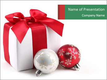 Christmas Gift PowerPoint Template - Slide 1