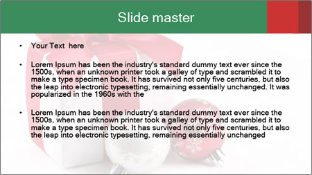 Christmas Gift PowerPoint Template - Slide 2