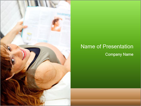Smiling pregnant female PowerPoint Templates