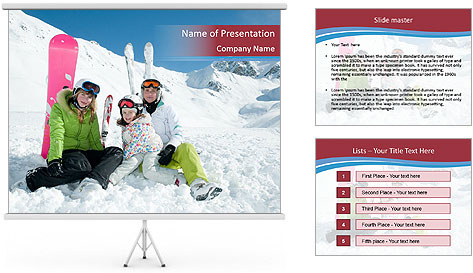Sporty family PowerPoint Template