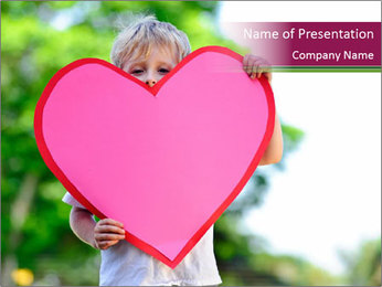 Young child holds PowerPoint Template - Slide 1