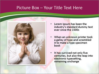 Young child holds PowerPoint Template - Slide 13