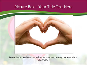 Young child holds PowerPoint Template - Slide 16