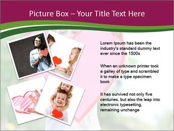 Young child holds PowerPoint Template - Slide 23