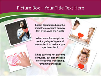 Young child holds PowerPoint Template - Slide 24