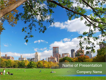 Manhattan skyline PowerPoint Template