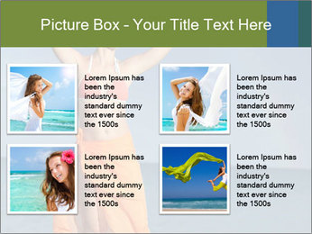 Woman in orange bikini PowerPoint Template - Slide 14