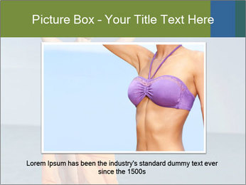 Woman in orange bikini PowerPoint Template - Slide 15