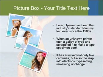 Woman in orange bikini PowerPoint Template - Slide 17