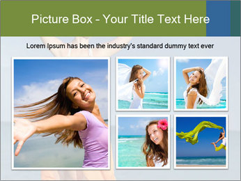Woman in orange bikini PowerPoint Template - Slide 19