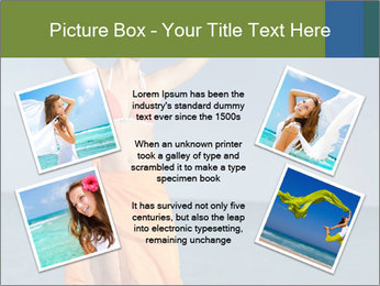 Woman in orange bikini PowerPoint Template - Slide 24