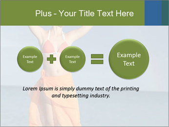 Woman in orange bikini PowerPoint Template - Slide 75