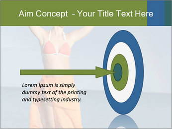 Woman in orange bikini PowerPoint Template - Slide 83