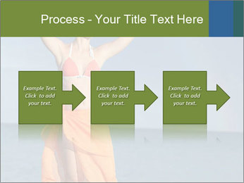 Woman in orange bikini PowerPoint Template - Slide 88