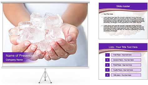 Ice cold hands PowerPoint Template