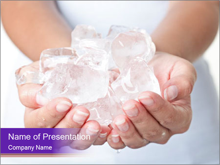 Ice cold hands PowerPoint Templates