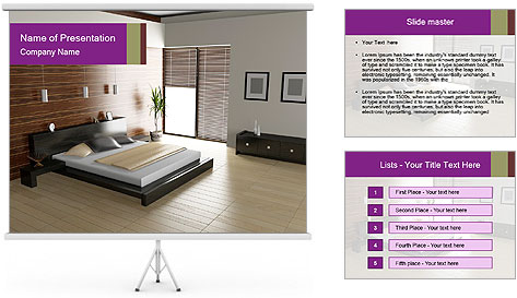 Modern interior PowerPoint Template