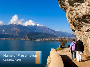 Lake Garda PowerPoint Template - Slide 1