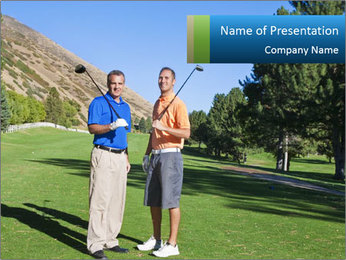 Golfers PowerPoint Templates - Slide 1