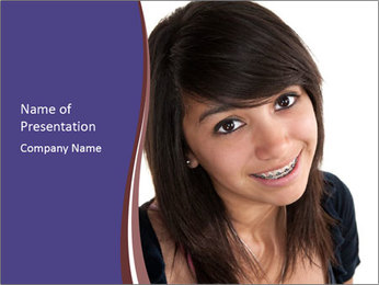 Cute Latina teenage PowerPoint Template