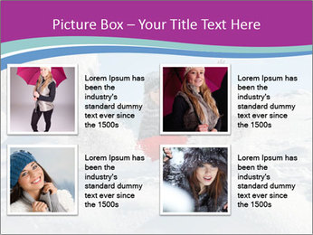 Young pretty woman PowerPoint Template - Slide 14
