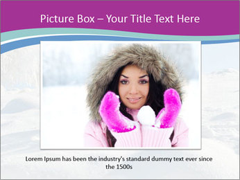 Young pretty woman PowerPoint Template - Slide 15