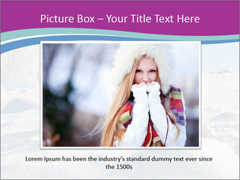 Young pretty woman PowerPoint Template - Slide 16