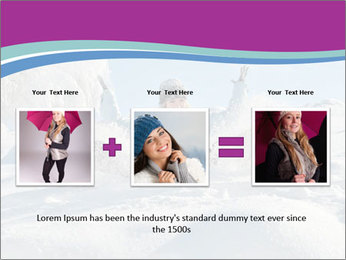 Young pretty woman PowerPoint Template - Slide 22
