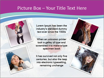 Young pretty woman PowerPoint Template - Slide 24