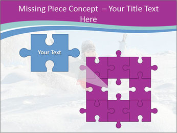 Young pretty woman PowerPoint Templates - Slide 45