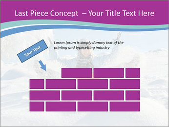 Young pretty woman PowerPoint Template - Slide 46