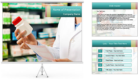 Female pharmacist PowerPoint Template