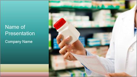 Female pharmacist PowerPoint Template
