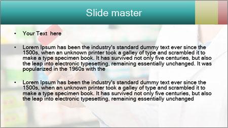 Female pharmacist PowerPoint Template - Slide 2