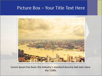 People playing Taiji on the Bund PowerPoint Templates - Slide 15