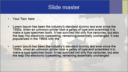 People playing Taiji on the Bund PowerPoint Template - Slide 2