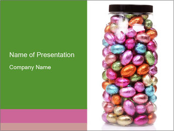 Chocolate easter-eggs PowerPoint Template