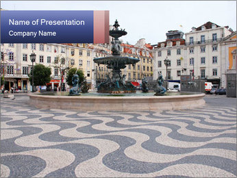 Lisbon area PowerPoint Template