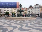 Lisbon area PowerPoint Templates
